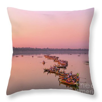 Amarapura Throw Pillow