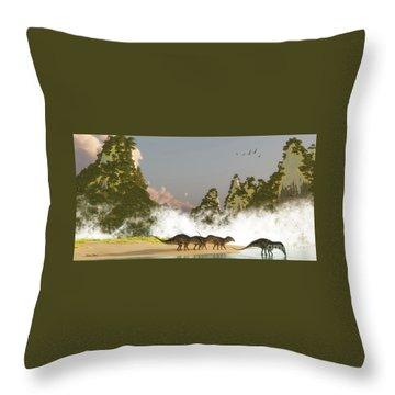 Zhenyuanopterus Throw Pillows