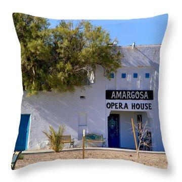 Amargosa Opera House Throw Pillow by Tomasz Dziubinski