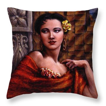 Amarillo Rose Throw Pillow by Jane Bucci