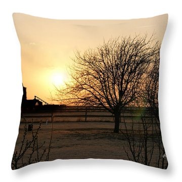 Amarillo Sunset Throw Pillow