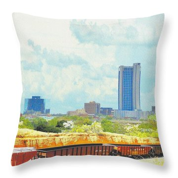 Amarillo Texas In The Spring Throw Pillow by Janette Boyd