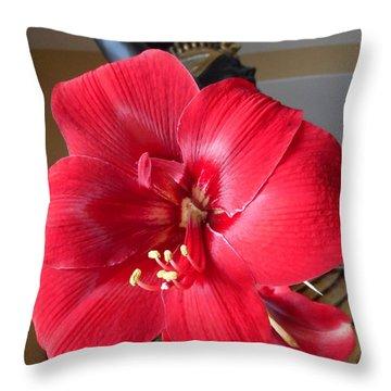 Amaryllis 7 Throw Pillow