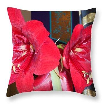 Amaryllis 9 Throw Pillow