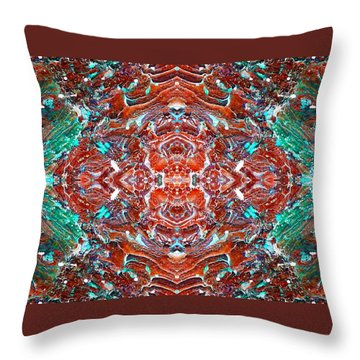 Amassed Existence Throw Pillow