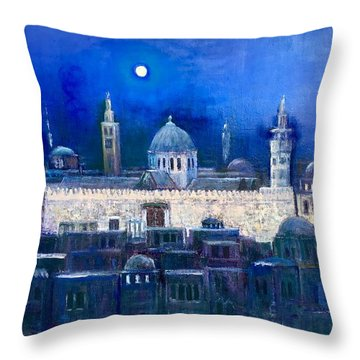 Amawee Mosquet  At Night Throw Pillow