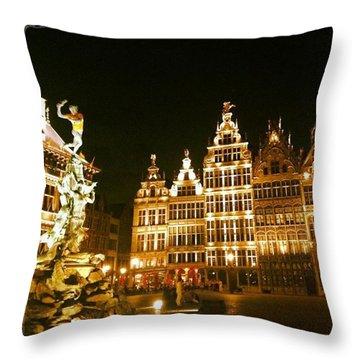 Amazing Romantic Antwerp Throw Pillow