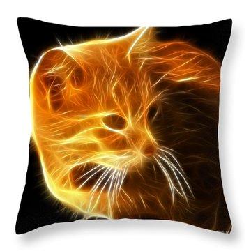 Amazing Cat Portrait Throw Pillow by Pamela Johnson