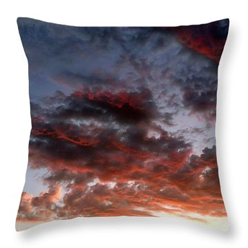 Spectacular Clouds  Throw Pillow