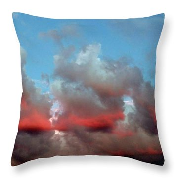 Imaginary Real Clouds  Throw Pillow