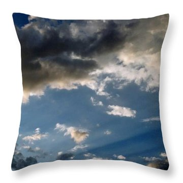 Amazing Sky Photo Throw Pillow