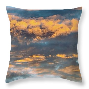 Clouds Of A Different Color Throw Pillow