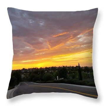 Colorful Sunset In Mission Viejo Throw Pillow