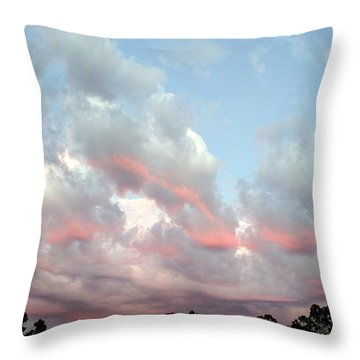 Amazing Clouds At Dusk Throw Pillow