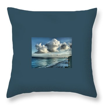 Throw Pillow featuring the photograph Amazing Clouds by Polly Peacock