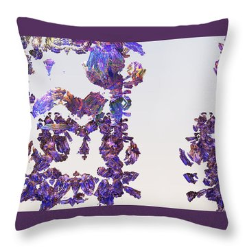 Amazing Delicate Fractal Pattern Throw Pillow