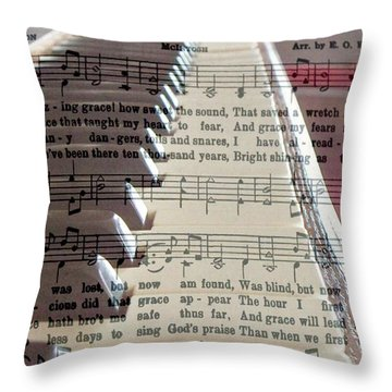 Amazing Grace Throw Pillow by Betty Northcutt
