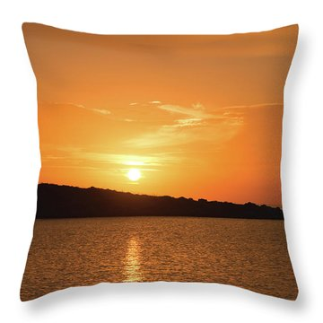 Dawn In Ibiza, Spain Throw Pillow