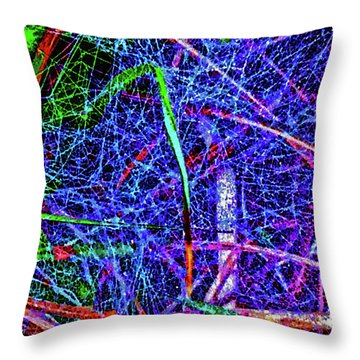 Amazing Invisible Web Throw Pillow by Gina O'Brien