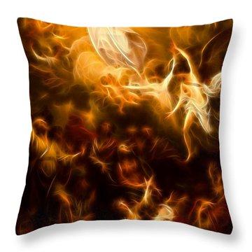Amazing Jesus Resurrection Throw Pillow by Pamela Johnson