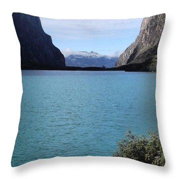 Amazing Lake Up In The Mountains Of The Throw Pillow