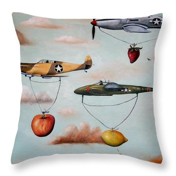 Amazing Race 2 Throw Pillow by Leah Saulnier The Painting Maniac