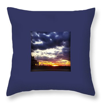 Amazing Sunset Throw Pillow by Lauren Fitzpatrick