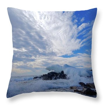 Amazing Superior Day Throw Pillow by Sandra Updyke