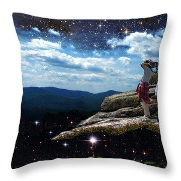 Amazing World Throw Pillow