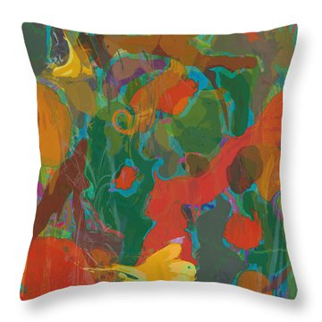 Throw Pillow featuring the painting Amazon by David Klaboe