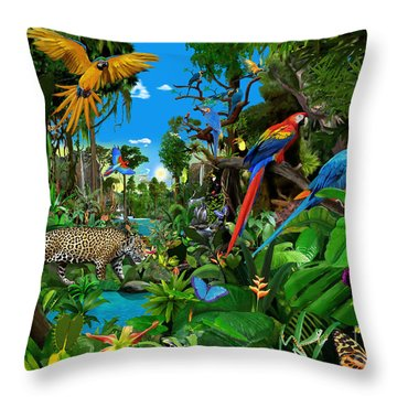 Amazon Sunrise Throw Pillow