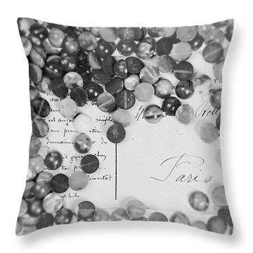 Amber #0502 Bw Throw Pillow