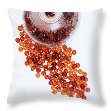 Amber #0664 Throw Pillow