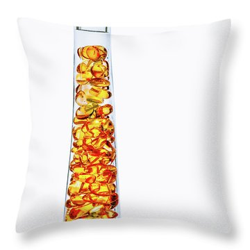 Amber #8429 Throw Pillow