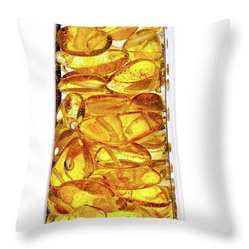 Amber #8527 Throw Pillow