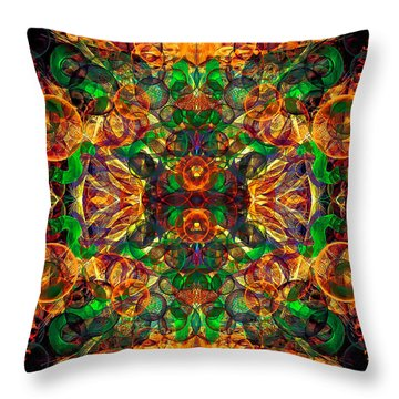 Amber Burst. Throw Pillow