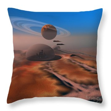 Amber Crest Throw Pillow by Corey Ford