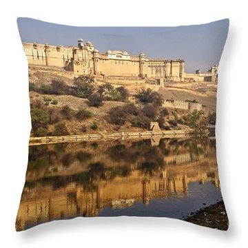 Amber Fort Throw Pillow