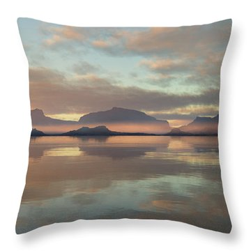 Throw Pillow featuring the digital art Salmon Lake Sunrise by Mark Greenberg