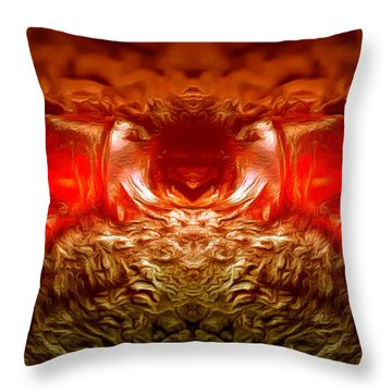 Amber Nightmare Throw Pillow