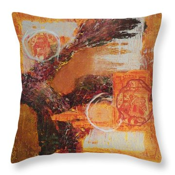 Amber Parade Throw Pillow by Sonal Raje
