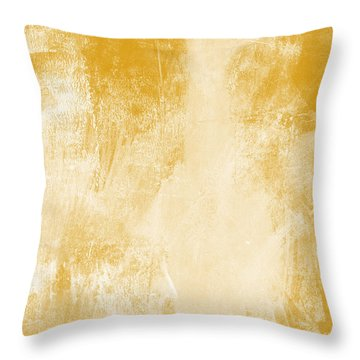 Amber Waves Throw Pillow by Linda Woods