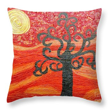 Ambient Bliss Throw Pillow