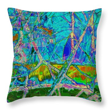 Ambient Blues Throw Pillow