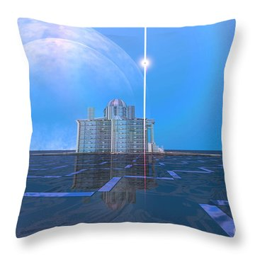 Ambient Flow Throw Pillow by Corey Ford