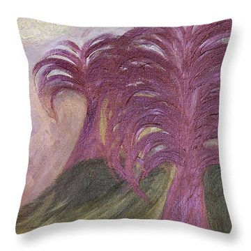 Ambient Moonlight Throw Pillow by Rachel Hannah