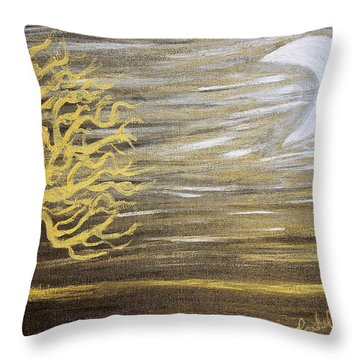Ambient Night Throw Pillow by Rachel Hannah