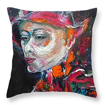 Ambiguity Throw Pillow by Ericka Herazo