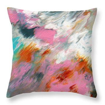 Ambrosia 2- Abstract Art By Linda Woods Throw Pillow
