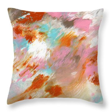 Ambrosia- Abstract Art By Linda Woods Throw Pillow
